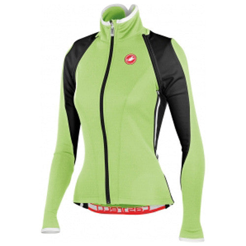 Castelli Womens Pazza Wind Shell Jacket - Green