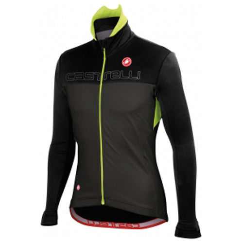 Castelli Mens Poggio Cycling Jacket - Anthracite /Fluro