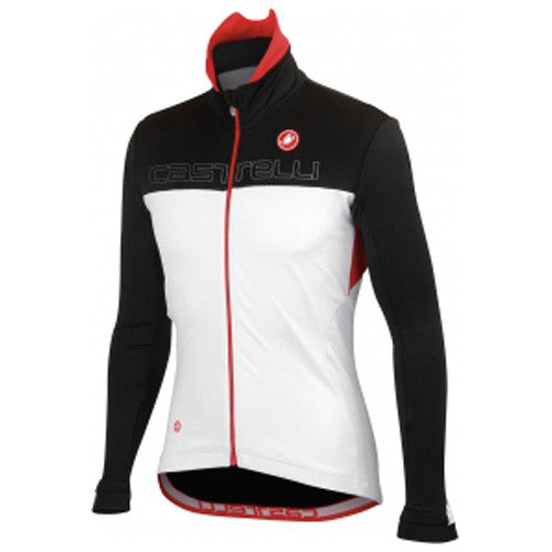 Castelli Mens Poggio Cycling Jacket - White Red