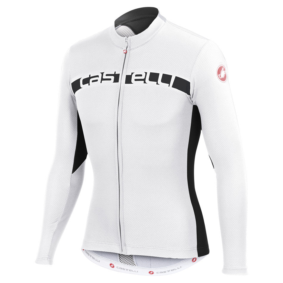 Castelli Mens Prologo 4 Long Sleeve Jersey - White