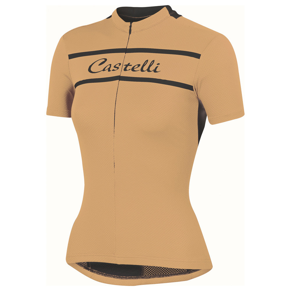 Castelli Womens Promessa Jersey - Light Orange