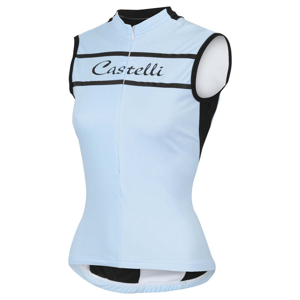 Castelli Womens Promessa Sleeveless Jersey - Blue