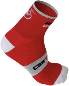 Castelli Mens Rosso Corsa 6 Socks - Red