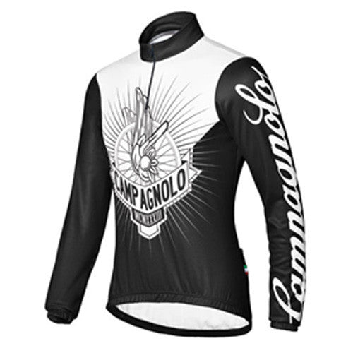 Campagnolo Mens Risingwheel Long Sleeve Jersey - Black / White