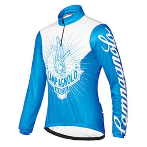 Campagnolo Mens Rising Wheel Long Sleeve Jersey - Blue / White