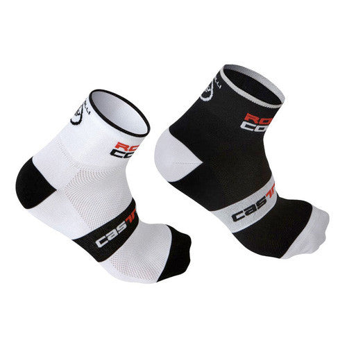 Castelli Rosso Corsa 6cm Cycling Socks Twin Pack