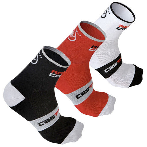 Castelli Rosso Corsa 9 Socks - 3 Pair Multi Pack