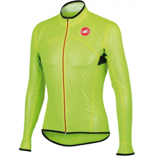 Castelli Mens Sottile Due Jacket - Fluro Yellow