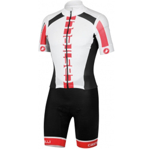 Castelli Mens San Remo Speedsuit - White Red