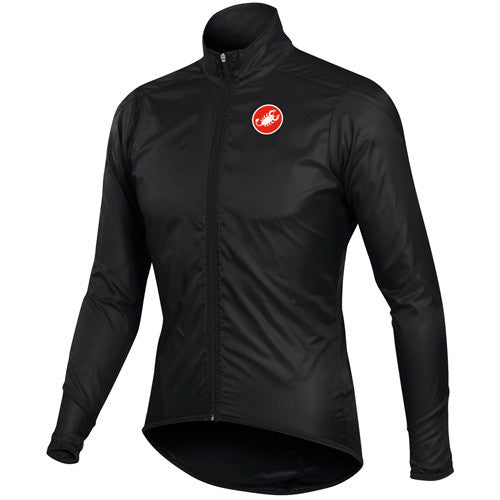 Castelli Mens Squadra Long Rain Jacket - Black
