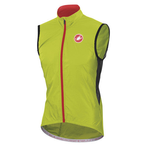 Castelli Mens Velo Vest - Lime Green
