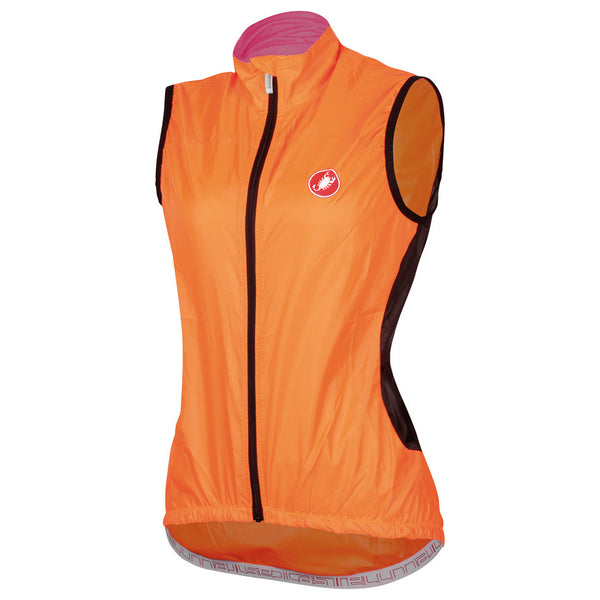 Castelli Womens Velo Rain Vest - Orange