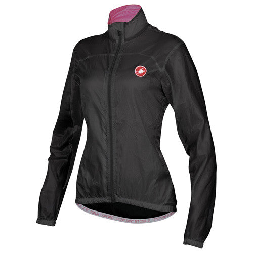 Castelli Womens Velo Rain Jacket - Black