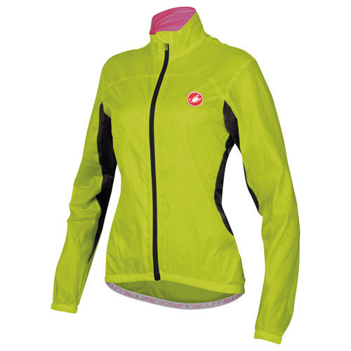 Castelli Womens Velo Rain Jacket - Lime Green