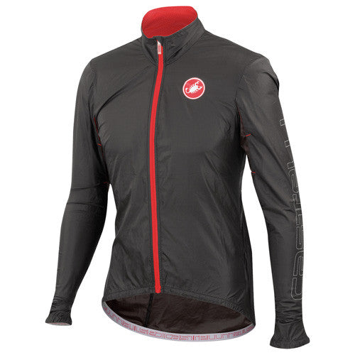 Castelli Mens Velo Rain Jacket - Black
