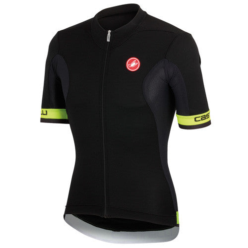 Castelli Mens Volata Jersey - Black Fluro Yellow