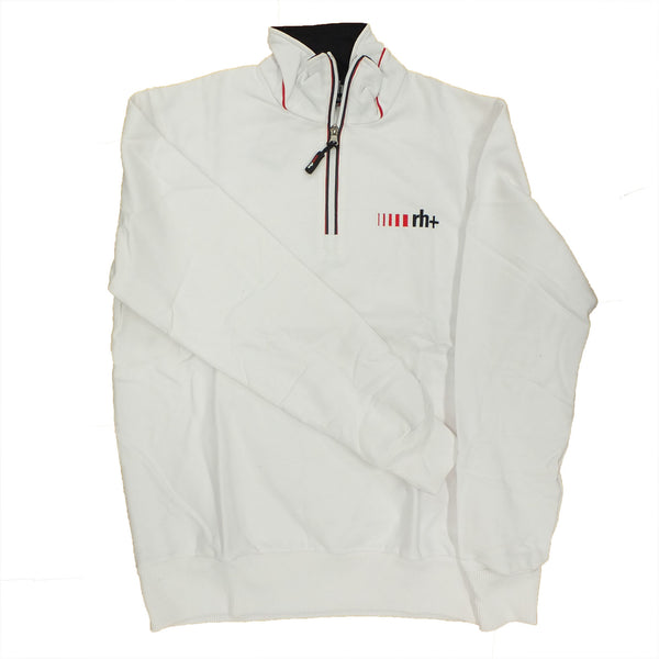 Zero RH+ Mens Logo Zip Sweatshirt - White
