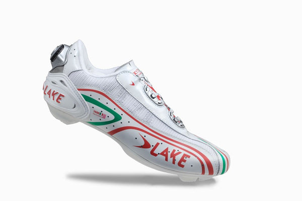 Lake Mens CX170 Road BOA Cycling Shoes - Italian Tricolor