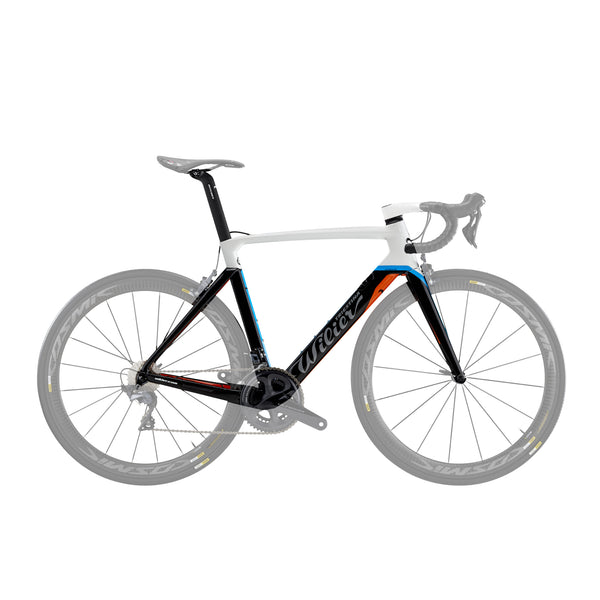 Wilier Cento 10 Air Frameset - Gloss White/Orange/Blue