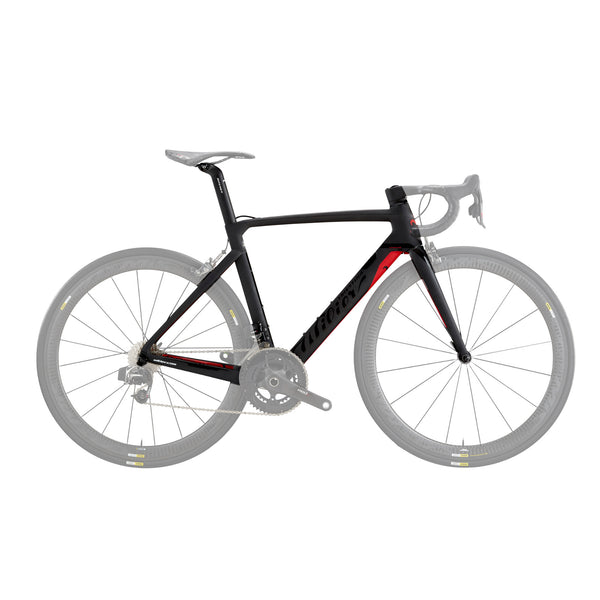 Wilier Cento 10 Air Frameset - Matte Black/Red