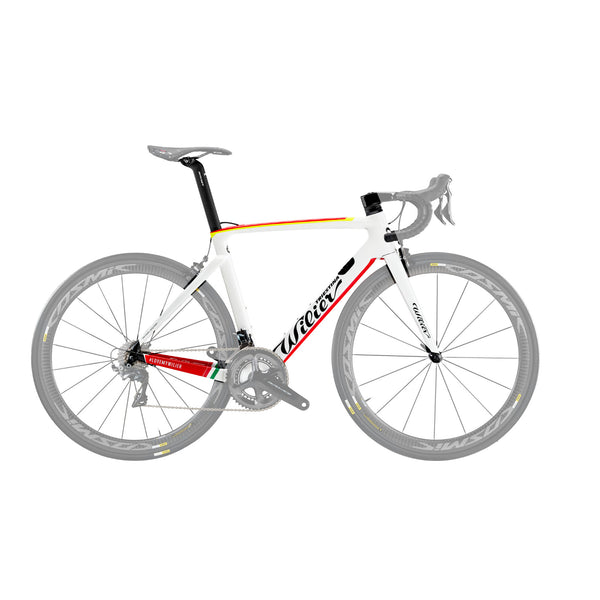 Wilier Cento 10 Air Frameset - Gloss White/Yellow