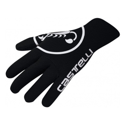 Castelli Mens Diluvio Neoprene Gloves - Black
