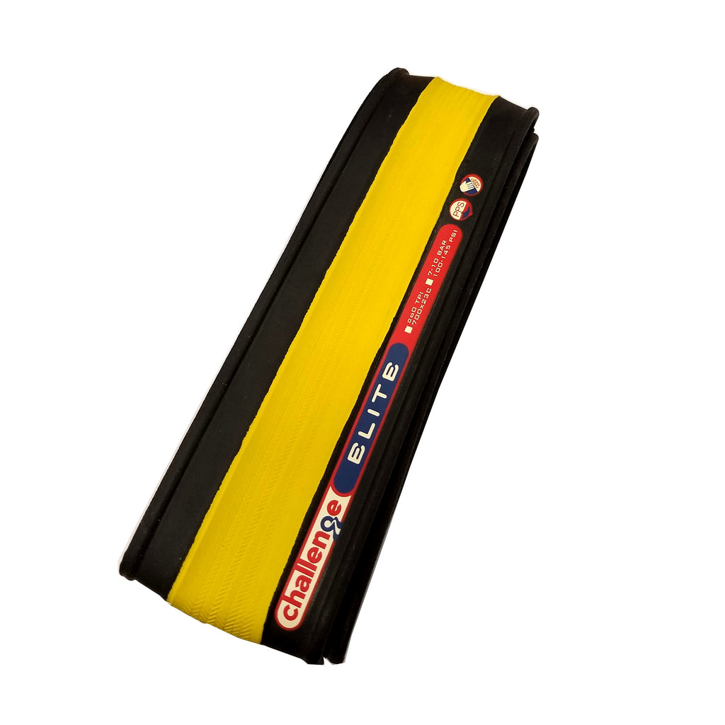 Challenge Elite Road Tyre - Yellow / Black 700 x 23