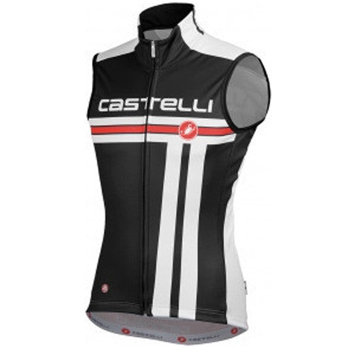 Castelli Mens Free Windstopper Vest - Black/White