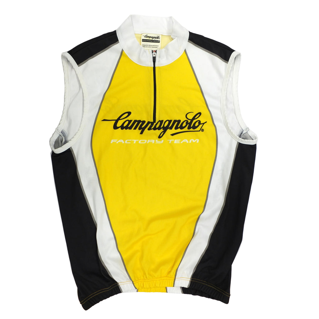 Campagnolo Mens Factory Team Sleeveless Jersey - Yellow
