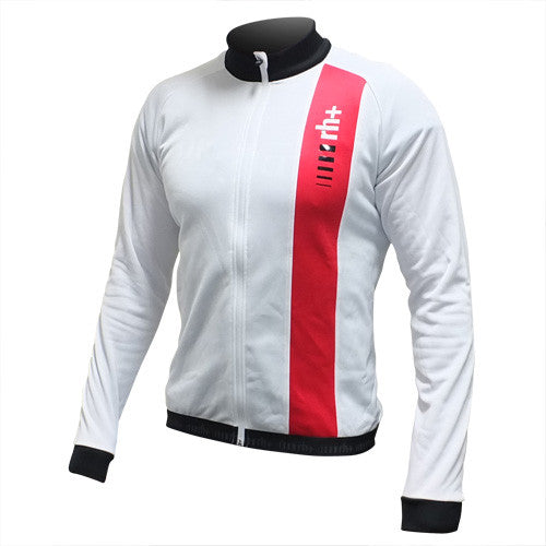Zero RH+ Mens Grand Prix Long Sleeve Fleece Jersey - White