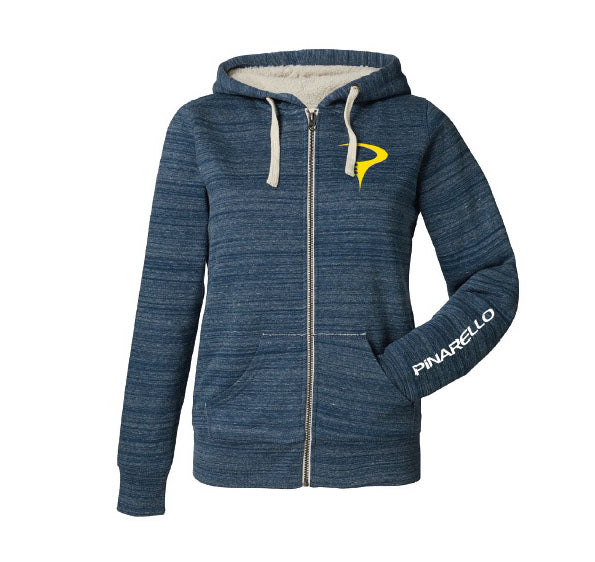 Pinarello Womens YellowToRed Zip Hoody