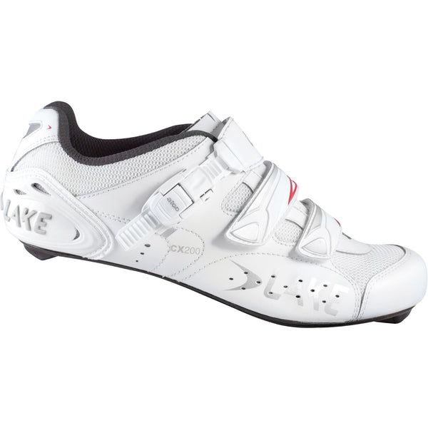 Lake Mens CX200 Road Cycling Shoes - White
