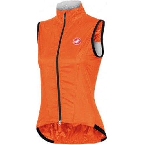 Castelli Womens Leggera Rain Vest - Orange