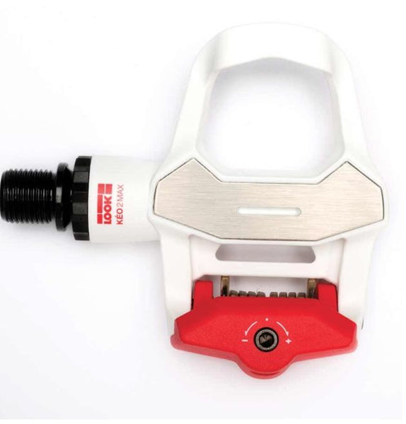 Look Keo 2 Max Clipless Pedals - White/Red