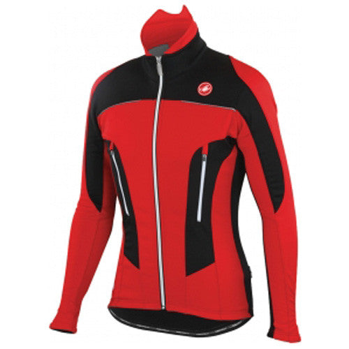 Castelli Mens Mortirolo Due Jacket - Red