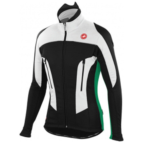 Castelli Mens Mortirolo Due Jacket - Black/Green