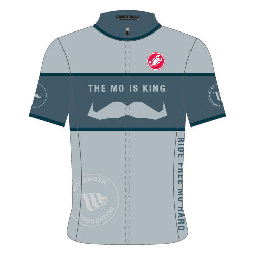 Castelli Mens Movember Custom Jersey - Grey