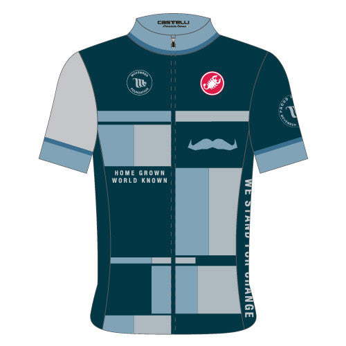 Castelli Mens Movember Custom Jersey - Blue