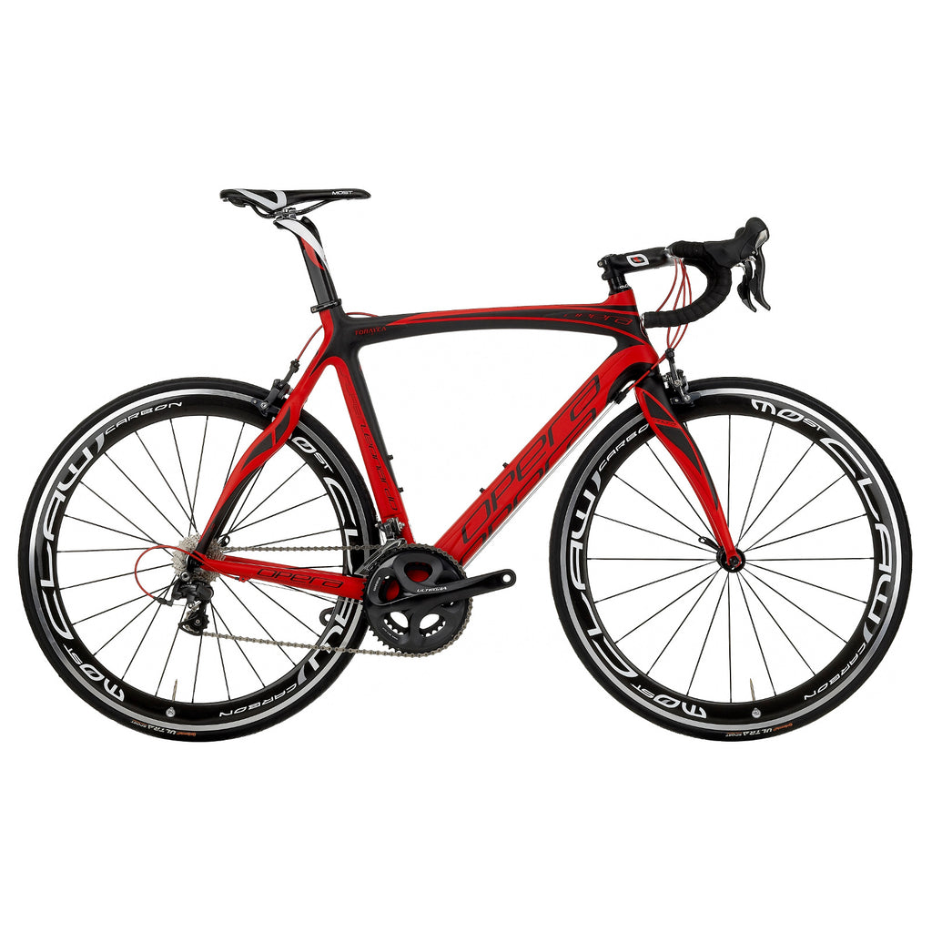 Opera Super Leonardo Carbon Fiber Dura-Ace Bike - Matte Red