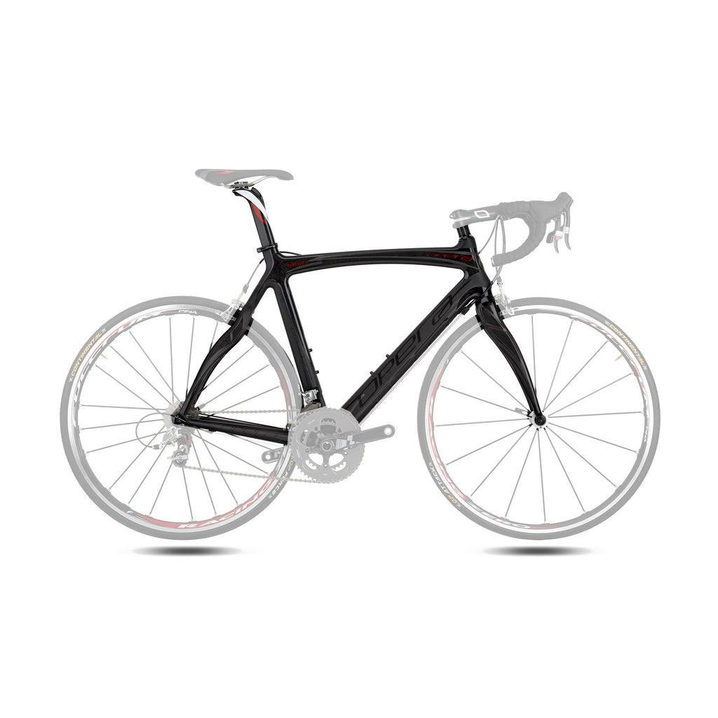 Opera Super Leonardo Carbon Fiber Frameset - Black/Red