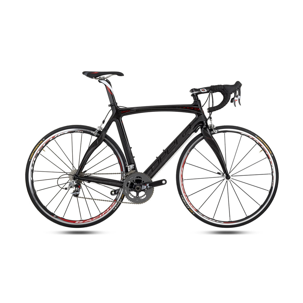 Opera Super Leonardo Carbon Fiber Athena Bike - Black/Red