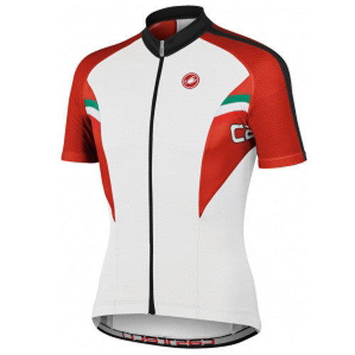 Castelli Mens Prima Jersey - White/Red