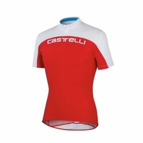 Castelli Mens Prologo HD Jersey - Red/White
