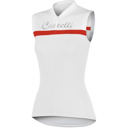 Castelli Womens Promessa Sleeveless Jersey - White Red