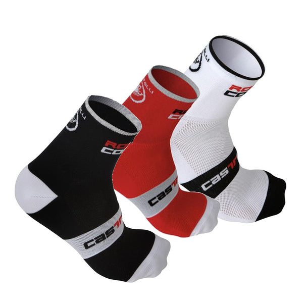 Castelli Rosso Corsa 9cm Cycling Socks Twin Pack