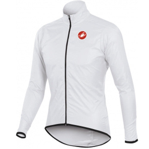 Castelli Mens Squadra Long Rain Jacket - White