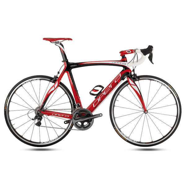 Opera Super Leonardo Carbon Fiber Dura-Ace Bike - Red