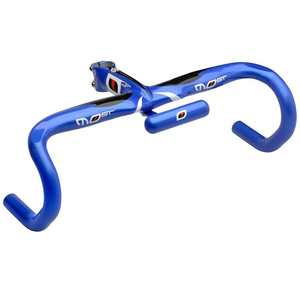 Pinarello Most Talon One Piece Integrated Handlebar - Blue