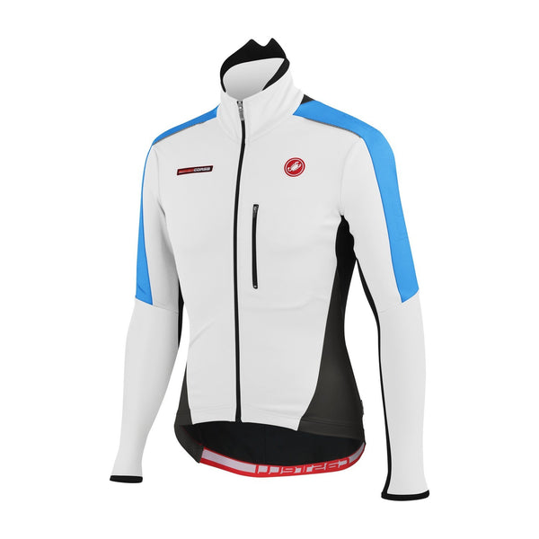 Castelli Mens Trasparente Due Cycling Jacket - White Blue