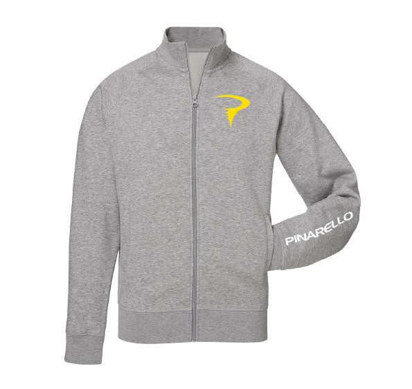Pinarello Mens YellowToRed Zip Sweatshirt